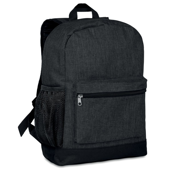 Padded backpack ● with an internal phone compartment ● it has a mesh pocket on the side ● main zipped compartment at the back for better protection ● includes an additional empty plug on the side to put cables through and can connect to your own power bank.