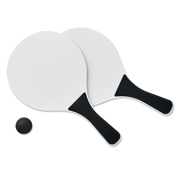 MDF wooden rackets● soft ball.