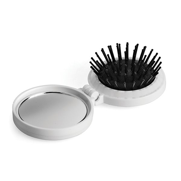 50g ● 1 Safety Pin ● 2 Needles ● 6 Colour Cotton Plate ● 1 Needle Threader ● Collapsible Hairbrush.