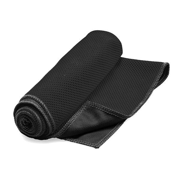 Cooling towel ● wring out water ● flick towel and use for cooling relief. Bulk Packed