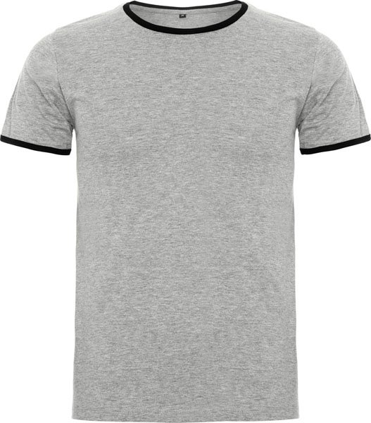 Contrast neck rib and sleeve binding T-shirt. Covered seams in the neck. Four thread overlock side seams giving greater durability.NO RETURNS! First come first serve
