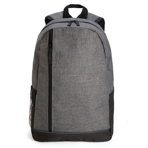 Backpack with one main zipped compartment ● side mesh pockect ● padded back panel ● adjustable shoulder straps.