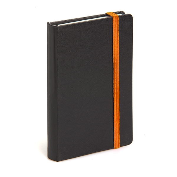 Includes a paper slip pocket inside the back cover.