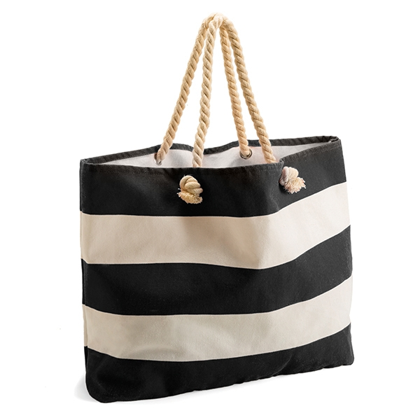 Canvas bag ● with rope handles.