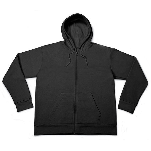 Brushed on the inside Full zip Self fabric cuffs & bottom hem Hood Tone on tone drawstring Kangaroo pocket Self fabric neck tape Standard Fit - Follows the shape of the body with added ease of movement.