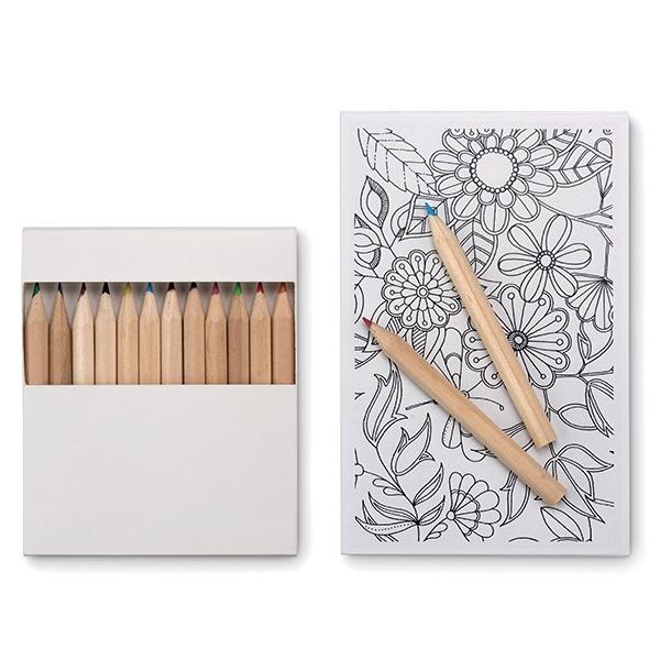 Drawing set● 10 paper cards● 12 wooden colour pencils.