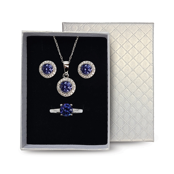 925 Sterling Silver Jewellery Set consisting of Necklace