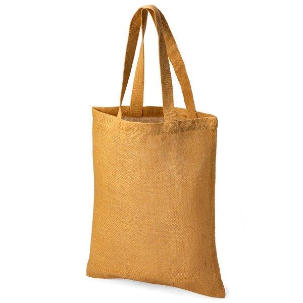 Eco friendly unlaminated jute shopper.