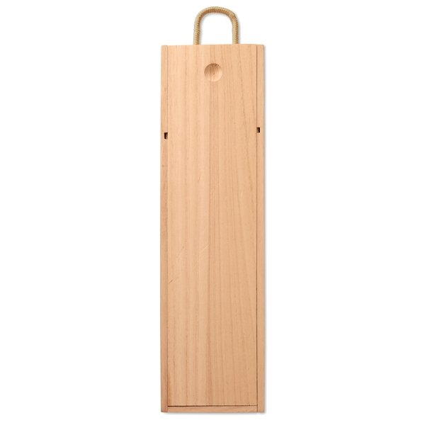 Paulownia wood wine box ● with a cord handle ● wine not included.