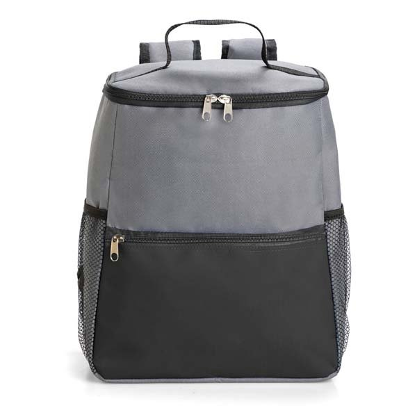 One main zipped compartment ● front zipped compartment ● two side mesh pockets ● adjustable back straps