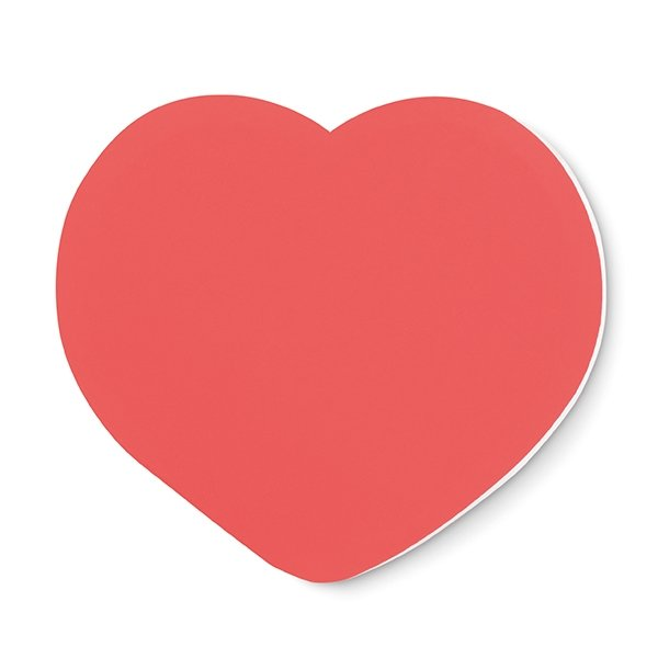 Heart shaped sticky notes ● 50 sheets.