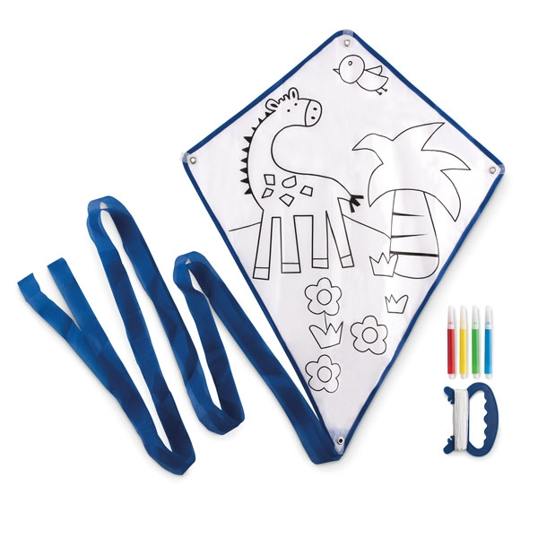 Children's kite ● with 4 colour markers.