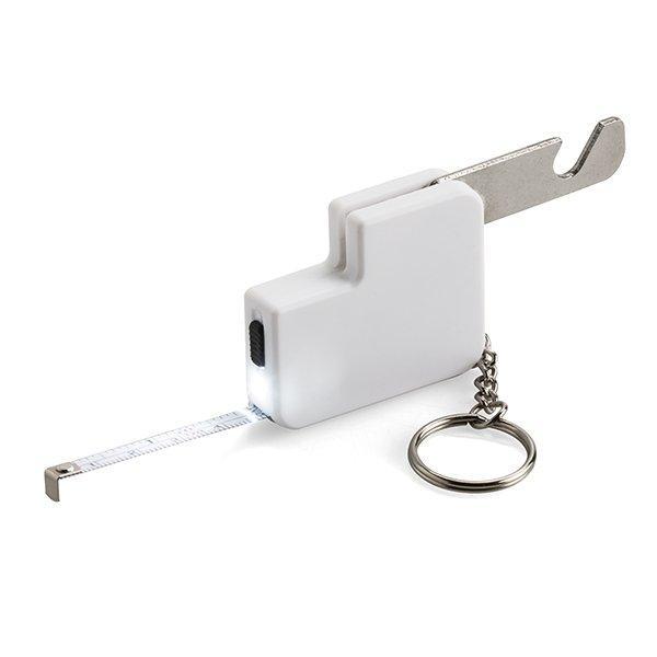 90cm tape measure ● 1 LED torch ● bottle opener ● keyholder.