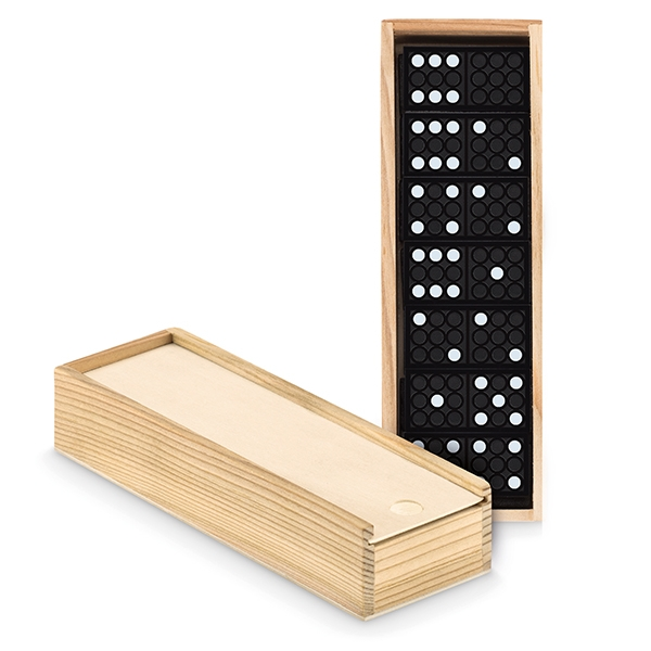 28 piece domino set● presented in a pine box.